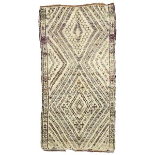 20th Century Moroccan Beni Ouarain Rug - 5′9″ × 10′10″ For Sale