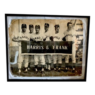 1960s Los Angeles Angels Baseball Team Advertising Board, Framed For Sale