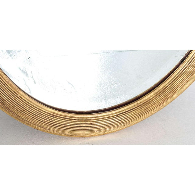 1900s French 19th Century Oval Mirror with Gilt Frame For Sale - Image 5 of 11