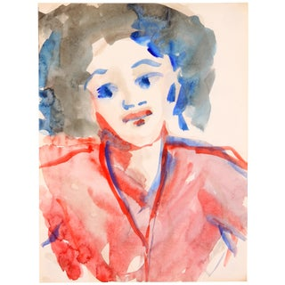 Portrait of a Diva, Watercolor Painting