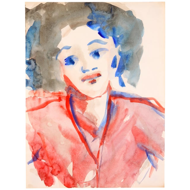 Portrait of a Diva, Watercolor Painting - Image 1 of 4