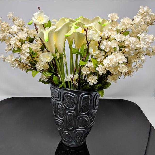 Gray Jonathan Adler Windowpane Brutalist Vase For Sale - Image 8 of 12