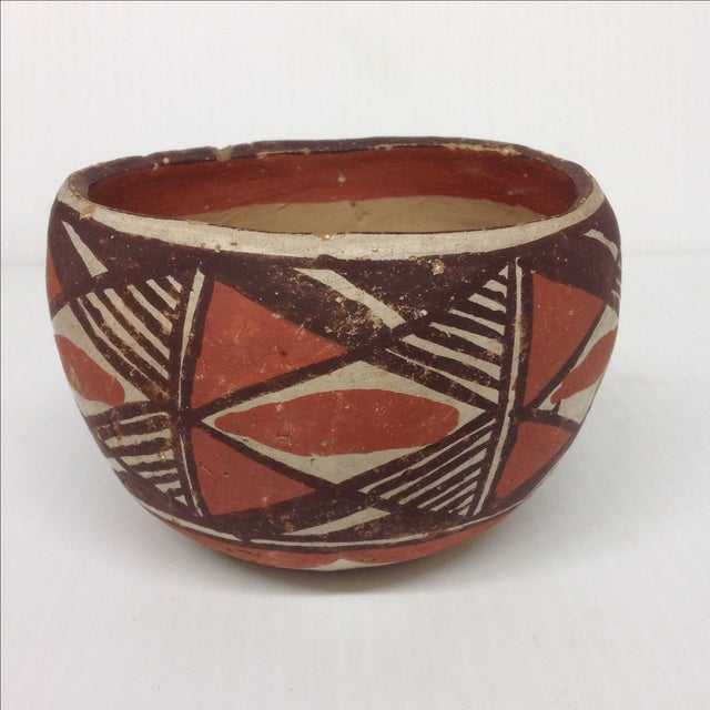Mid-Century Native American Pottery Vase & Bowl - Image 5 of 5