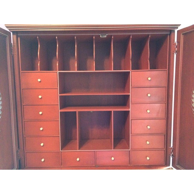Antique Music Themed Secretary Desk - Image 8 of 11