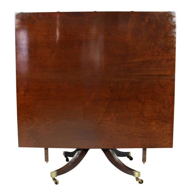 Traditional Regency Mahogany Three Pedestal Dining Table For Sale - Image 3 of 13