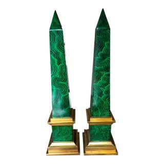 Wildwood Swirl Jade Spire Obelisks - a Pair