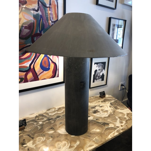 Concrete 1940s Industrial Concrete Lamps Made From Factory Rollers - a Pair For Sale - Image 7 of 13