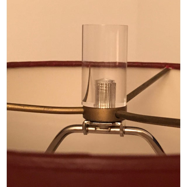 Mid-Century Modern Vintage Signed Van Teal Acrylic Mid-Century Lamps - a Pair For Sale - Image 3 of 13