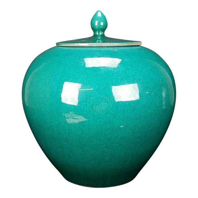 Chinese Crackle Glazed Ginger Jar - Image 1 of 11