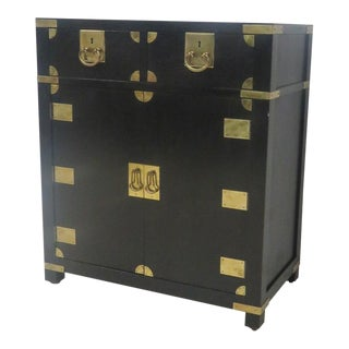 Asian Style Ebonized Campaign Chest