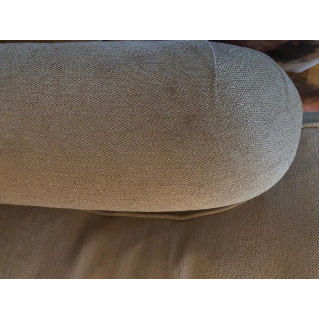 2010s George Smith Linen/Down Arm Chair For Sale - Image 5 of 8