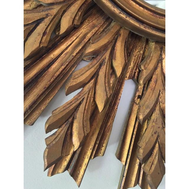 Wooden Sunburst Mirror - Image 10 of 11