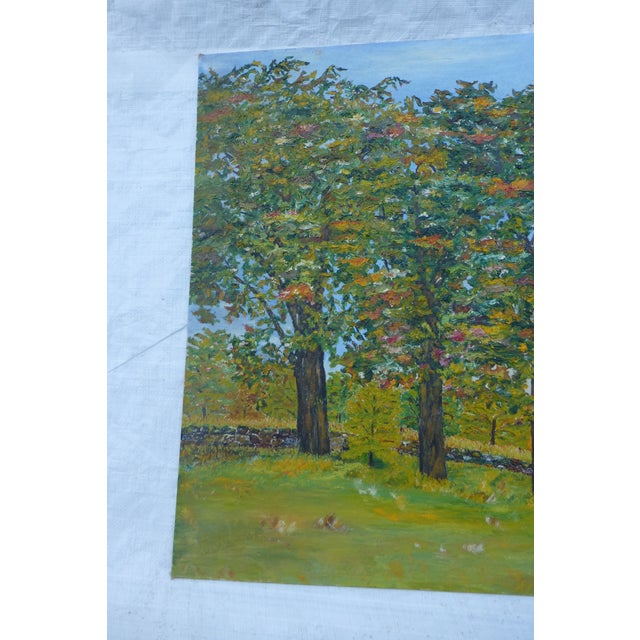 HL Musgrave Mid-Century New England Trees Painting - Image 3 of 6