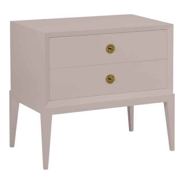 Casa Cosima Hayes 2-Drawer Side Chest, Elephant Gray For Sale