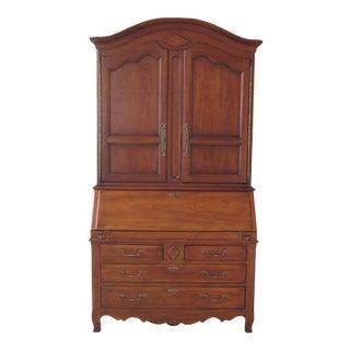1990s French Provincial Cherry Secretary Desk For Sale
