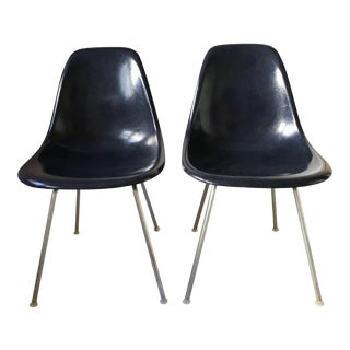 Vintage Navy Eames Dsx Fiberglass Chairs - a Pair For Sale