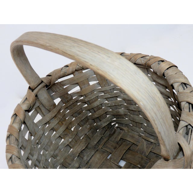 1900s Country Style Gray Basket For Sale - Image 12 of 13