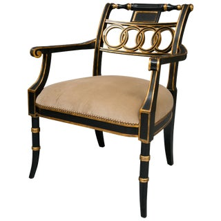 Regency Ebonized Style Side Chair For Sale