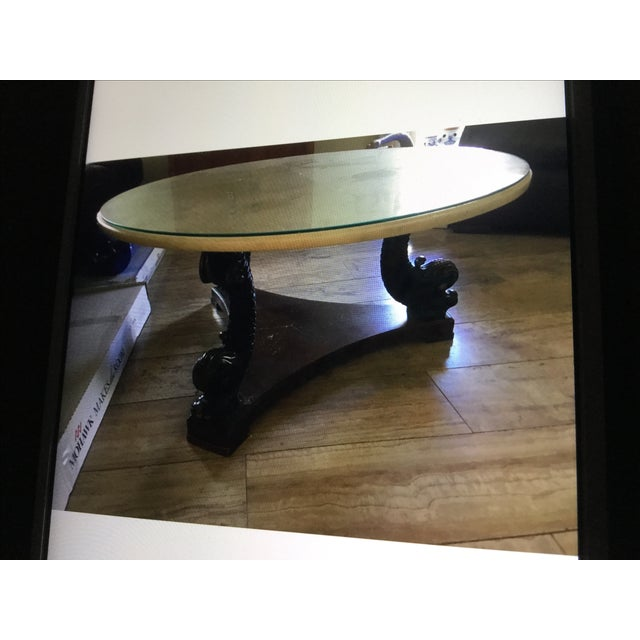 Vintage Dorothy Draper Style Round Coffee Table - Image 2 of 5