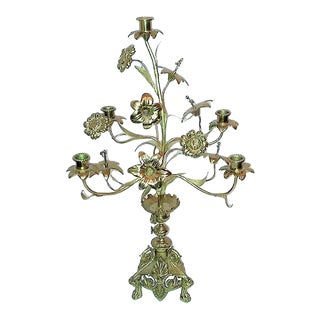 Antique French Church Altar Candelabra For Sale