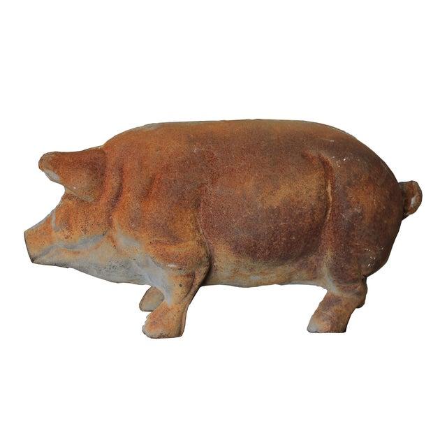 Antique Large Cast-Iron Pig Bank - Image 4 of 6