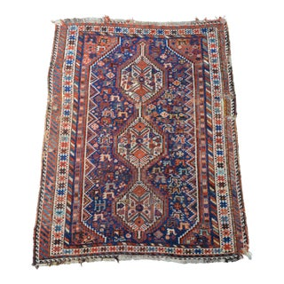 "20th Century Persian Distressed Tribal Luri Rug - 3' 11"" X 5' 2"" For Sale"