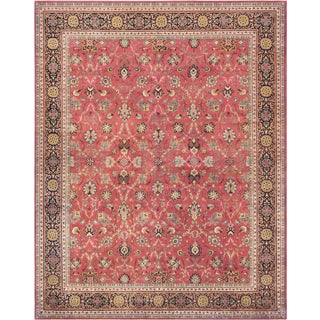"Mansour Superb Quality Handmade Persian Tabriz Rug - 7'6"" X 10' For Sale"
