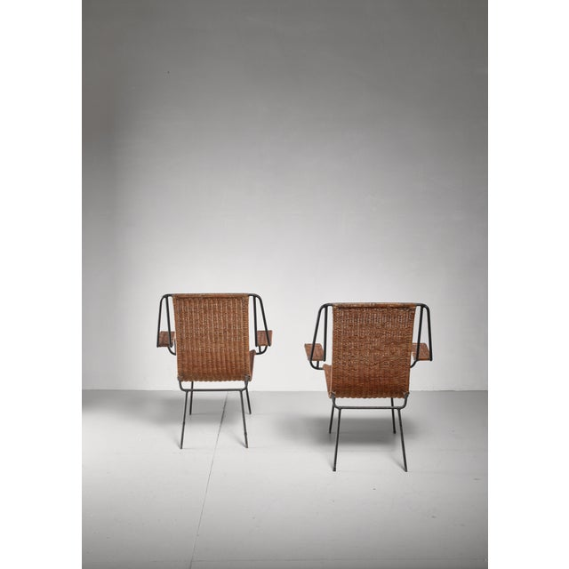 1950s Carlo Hauner and Martin Eisler Pair of Lounge Chairs, Brazil For Sale - Image 5 of 6