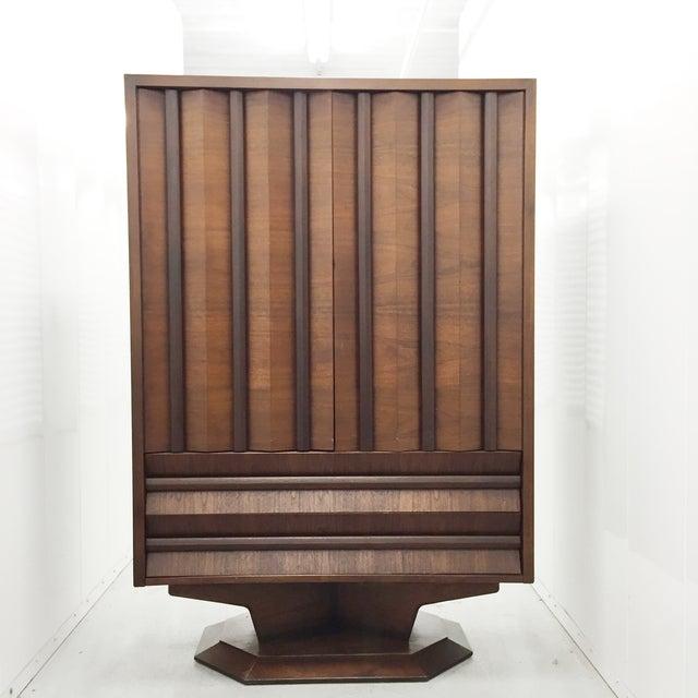 Mid-Century Wood Wardrobe/Armoire - Image 3 of 5