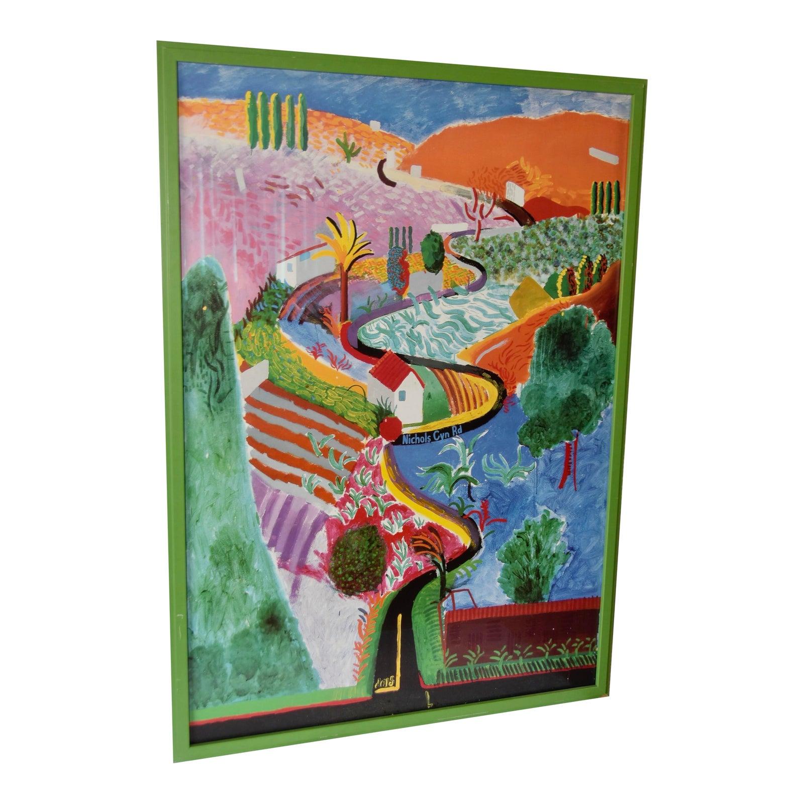 $1,750 - 1988 David Hockney Metropolitan Museum of Art Exhibition Poster, Framed