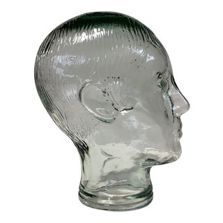 Vintage Glass Head Sculpture