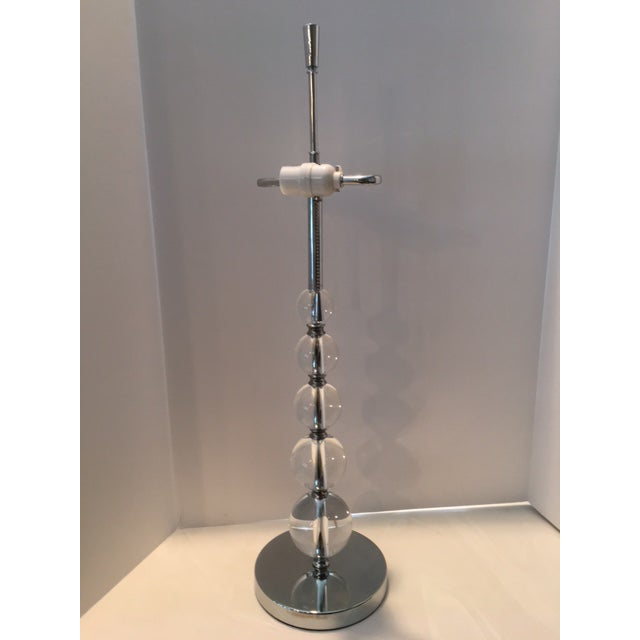 Chrome Contemporary Crystal Ball Table Lamp For Sale - Image 7 of 10