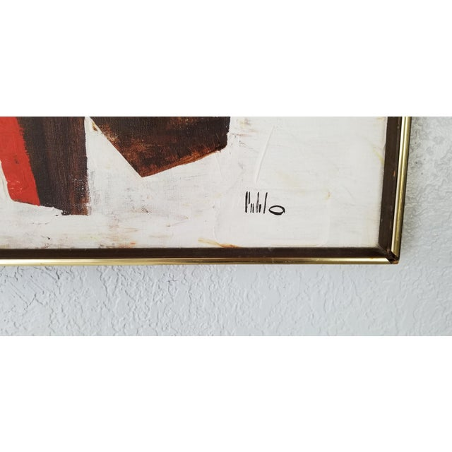 Mid-Century Acrylic on Canvas Painting by Palilo. For Sale In Miami - Image 6 of 13