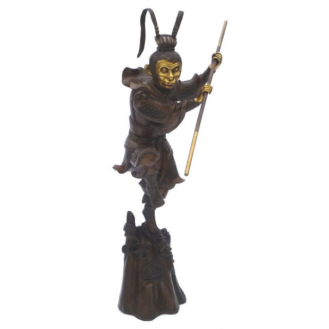 Large Bronze Statue of Sun Wukong Warrior - Image 1 of 7