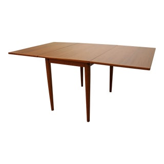 Mid-Century Danish Modern Skovmand & Andersen Teak Drop Leaf Dining Table For Sale