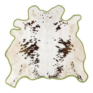 "Brown & White Animal Hyde Rug - 4'2"" X 4'4"""