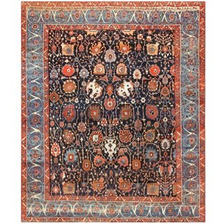 Antique Persian Bakshaish Rug - 13′6″ × 16′6″ For Sale