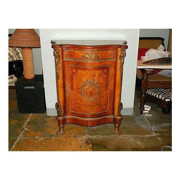 Antique Inlaid French Empire Revival Cabinet - Image 2 of 8