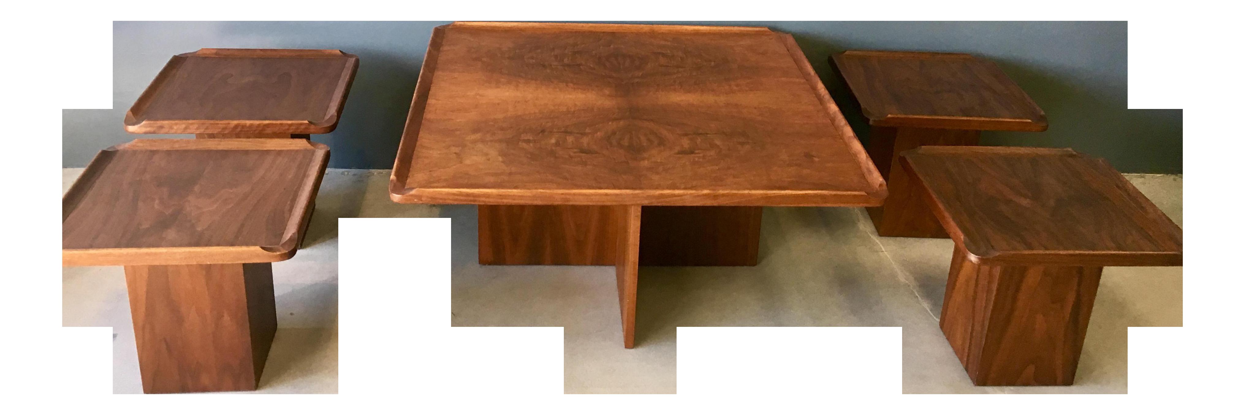 Gentil Brown Saltman Mid Century Coffee U0026 Nesting Tables   5 Pieces