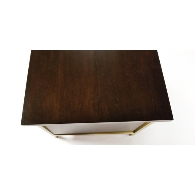 Paul McCobb Brass & Mahogany Desk for the Connoisseur Collection H. Sacks & Sons For Sale - Image 9 of 11