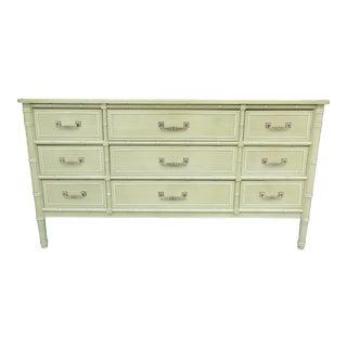 Henry Link Faux Bamboo Nine Drawer Dresser For Sale