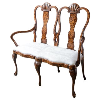 Late 19th C. Dutch Settee For Sale