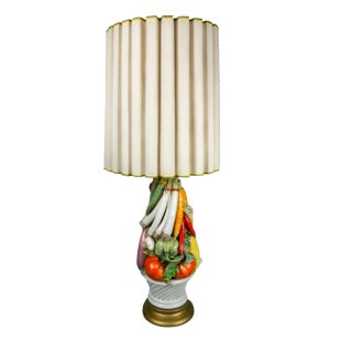 Marbro Mid-Century Porcelain Vegetable Feast Lamp