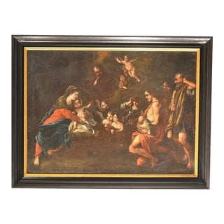 Old Masters Oil of The Adoration of The Shepherds For Sale