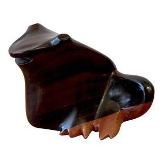Rosewood Frog Figurine For Sale