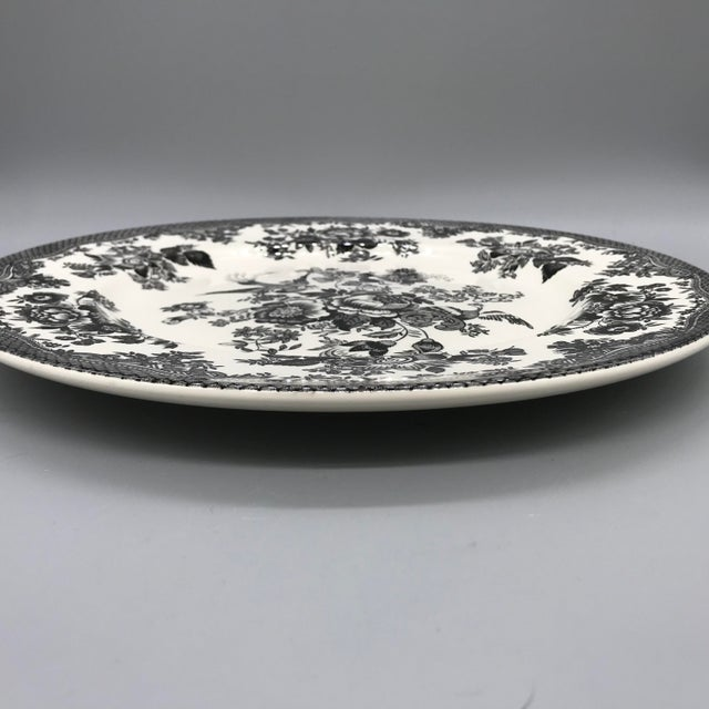 Art Nouveau Royal Stafford Asiatic Pheasant Black Chop Plates - Set of 5 For Sale - Image 3 of 13