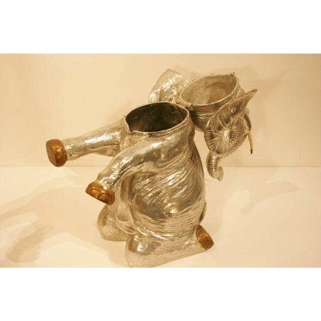 1980s Vintage Arthur Court Elephant Champagne Cooler / Ice Bucket For Sale - Image 5 of 9