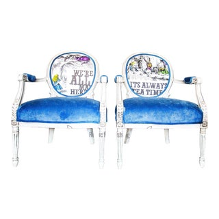 Alice in Wonderland Balloon Back Chair Set For Sale