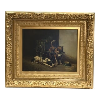 19th Century Oil on Canvas For Sale