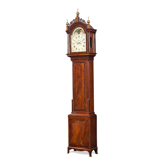 Simon Willard Roxbury Tall Case Clock For Sale - Image 9 of 10